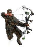 De jager van de boog in actie Stock Fotografie