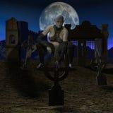 De Jager van de vampier - het Cijfer van Halloween stock illustratie