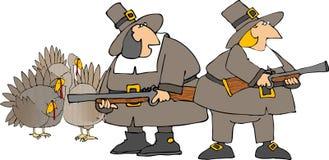 De jagers van de pelgrim Royalty-vrije Stock Foto