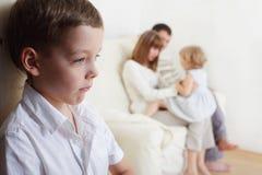 De jaloersheid van kinderen Stock Foto's