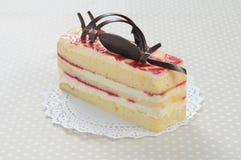 De jam van de aardbei shortcake met chocolade Royalty-vrije Stock Foto's