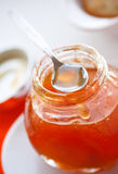De jam van de abrikoos stock foto