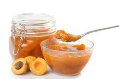 De jam van de abrikoos Stock Fotografie
