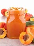 De jam van de abrikoos Stock Foto's
