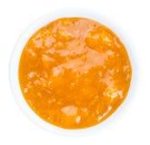 De jam van de abrikoos die op wit wordt geïsoleerdl Royalty-vrije Stock Fotografie