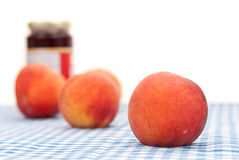 De Jam van de perzik Stock Foto's