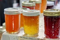 De Jam van de perzik bij de Markt van de Staat Stock Foto