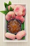 De jam van perziken Royalty-vrije Stock Afbeelding