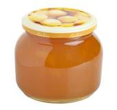 De jamglas van de abrikoos Royalty-vrije Stock Foto's