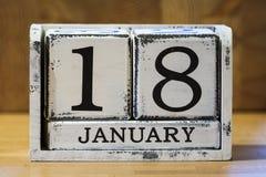 18 de janeiro Imagens de Stock