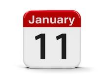 11 de janeiro Imagens de Stock Royalty Free