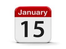 15 de janeiro Imagens de Stock