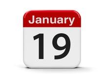 19 de janeiro Fotografia de Stock Royalty Free