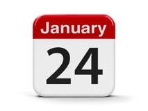 24 de janeiro Imagem de Stock