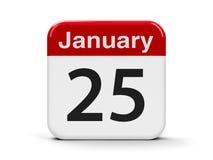 25 de janeiro Foto de Stock