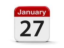 27 de janeiro Imagens de Stock