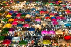 23 de janeiro de 2015 - Banguecoque, Tailândia: Ideia de cima de uma noite Fotografia de Stock Royalty Free