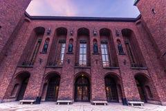 21 de janeiro de 2017: A câmara municipal de Éstocolmo, Suécia Foto de Stock