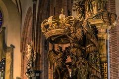 21 de janeiro de 2017: A decoração da catedral de S Imagens de Stock Royalty Free