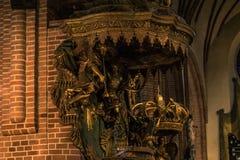 21 de janeiro de 2017: Detalhe da decoração da catedral de S Fotografia de Stock