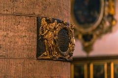 21 de janeiro de 2017: Detalhes da decoração dentro do ch alemão Imagens de Stock