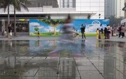 21 de janeiro de 2015, Hong Kong: crianças da mostra do obturador da velocidade lenta Fotos de Stock Royalty Free