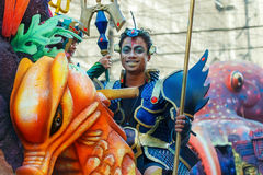 24 de janeiro de 2016 Iloilo, Filipinas Festival Dinagyang Unid Imagem de Stock Royalty Free