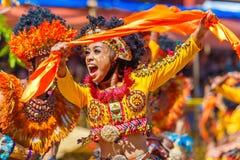 24 de janeiro de 2016 Iloilo, Filipinas Festival Dinagyang Unid Fotografia de Stock Royalty Free