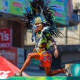 24 de janeiro de 2016 Iloilo, Filipinas Festival Dinagyang Unid Fotos de Stock Royalty Free