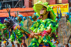 24 de janeiro de 2016 Iloilo, Filipinas Festival Dinagyang Unid Foto de Stock