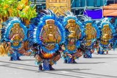 24 de janeiro de 2016 Iloilo, Filipinas Festival Dinagyang Unid Imagem de Stock