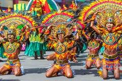 24 de janeiro de 2016 Iloilo, Filipinas Festival Dinagyang Unid Fotos de Stock