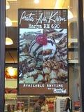 15 de janeiro de 2017 Menu do cartaz no restaurante NU Sentral do sambal & do molho Imagens de Stock Royalty Free