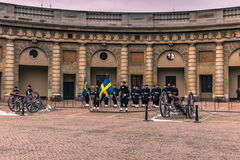 21 de janeiro de 2017: Mudança do protetor no palácio real de S Imagem de Stock