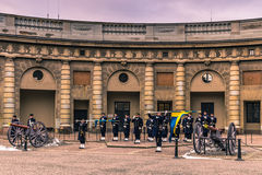 21 de janeiro de 2017: Mudança do protetor no palácio real de S Imagem de Stock Royalty Free