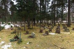 22 de janeiro de 2017: Panorama do cemitério de Skogskyrkogarden em Stoc Imagens de Stock