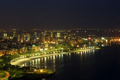 de janeiro natt rio Arkivfoto