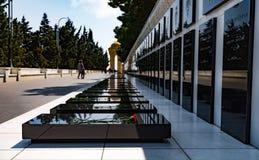 20 de janeiro tragédia em Baku Shehidlar Hiyabani Foto de Stock