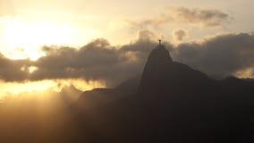 里约在日落的de Janerio 库存图片