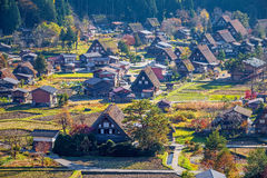 De japan-luchtmening van shirakawa-gaat royalty-vrije stock foto's
