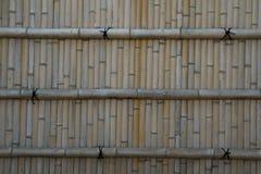 De Japanse achtergrond van de bamboemuur Stock Foto's