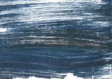 De Japanse achtergrond van de indigo abstracte waterverf Stock Afbeeldingen