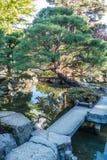 De Japanse Bezinning van de Tuinvijver Stock Afbeeldingen