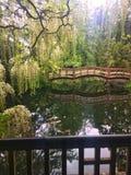 De Japanse Brug van de Tuin Royalty-vrije Stock Foto's
