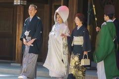 De Japanse ceremonie van het shintohuwelijk Royalty-vrije Stock Foto's