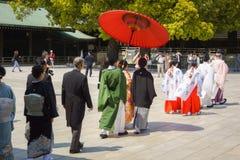 De Japanse ceremonie van het shintohuwelijk Royalty-vrije Stock Afbeeldingen