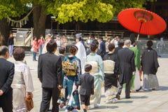 De Japanse ceremonie van het shintohuwelijk Royalty-vrije Stock Afbeelding