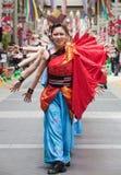 De Japanse dansers van het Festival Daihanya royalty-vrije stock foto's