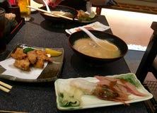 De Japanse garnalen van voedselsushi Stock Foto's