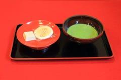 De Japanse Groene Thee van Matcha Royalty-vrije Stock Foto's